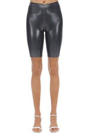 VELVET SOCK'S BY SIMONE WILD Metallic Techno Cycle Shorts