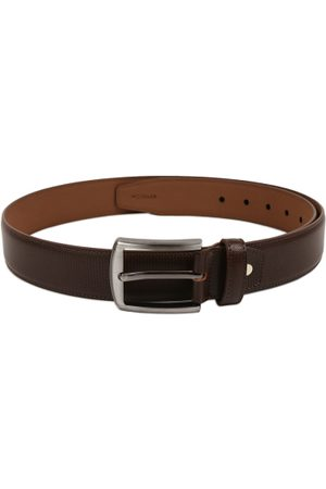 KARA Men Brown Textured Belt