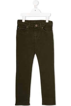 Emporio Armani Mid-rise straight leg denim jeans