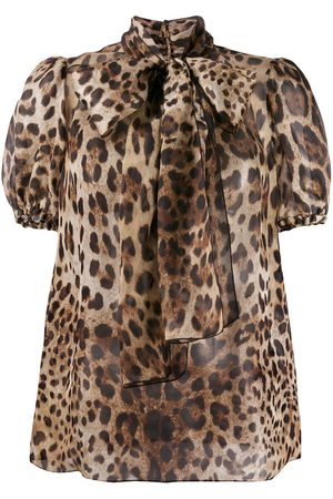 Dolce & Gabbana Leopard print pussy bow blouse