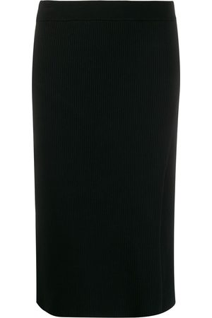 JONATHAN SIMKHAI Ribbed knit side slit pencil skirt