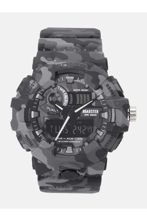 Roadster Men Charcoal Grey Multi Function Analogue and Digital Watch MFB-PN-SM-8001