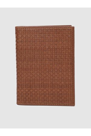 Raymond Weil Men Khaki Textured Passport Holder
