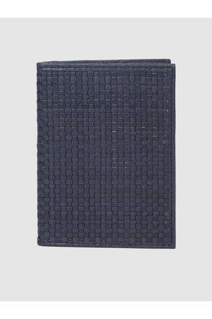 Raymond Weil Men Blue Textured Passport Holder