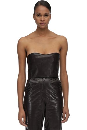 MARYAM NASSIR ZADEH Strapless Leather Top