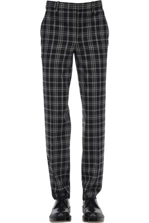 Neil Barrett Men Formal Trousers - Stretch Virgin Wool Blend Canvas Pants