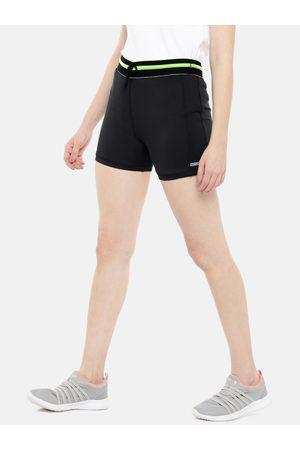 Sweet Dreams Women Black Solid Regular Fit Sports Shorts