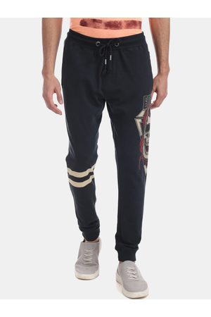 ED HARDY Men Grey Solid Joggers