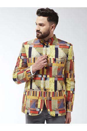 SOJANYA Men Multicoloured Printed Bandhgala Blazer