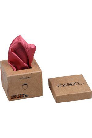 Tossido Men Maroon Self-Design Pocket Squares