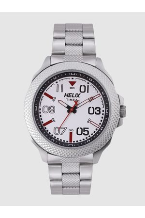 Helix Men White Analogue Watch TW034HG07