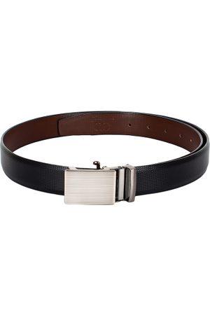 amicraft Men Black & Brown Textured Belt