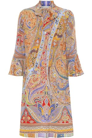 Etro Printed stretch-cotton minidress