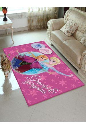 Disney Pink Frozen Princess Printed Anti-Skid Carpet