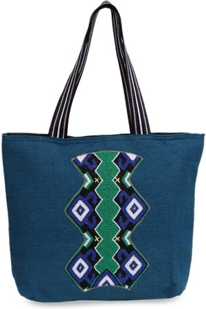 Diwaah Blue Embellished Shoulder Bag