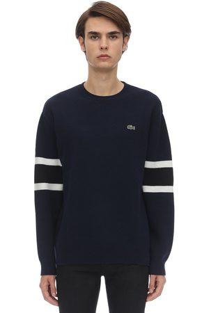 Lacoste Men Jumpers - Crocodile Wool Blend Knit Sweater