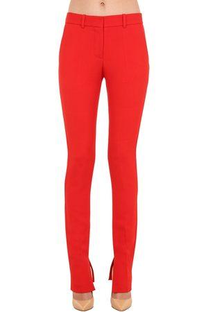 Victoria Beckham Stretch Viscose Blend Twill Pants