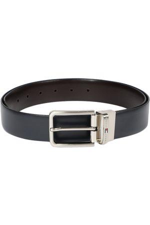 Tommy Hilfiger Men Navy Blue & Brown Solid Reversible Belt