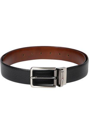 Tommy Hilfiger Men Black & Brown Reversible Solid Belt