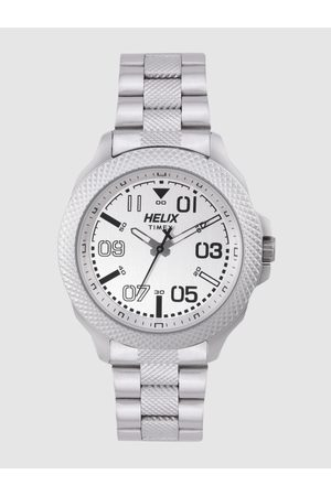Helix Men Silver-Toned Analogue Watch TW034HG06