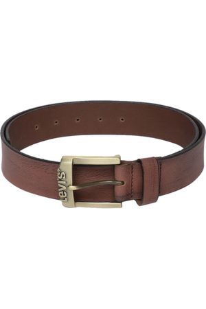 Levi's Men Brown Solid Leather Belt