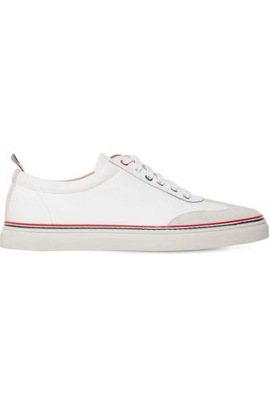 Thom Browne Rubberized Leather Low-top Sneakers
