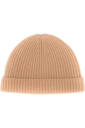 N.PEAL Hats - Ribbed cashmere beaniea