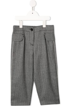 Emporio Armani Zigzag patterned tailored trousers