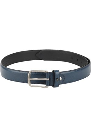Van Heusen Men Blue Textured Leather Belt