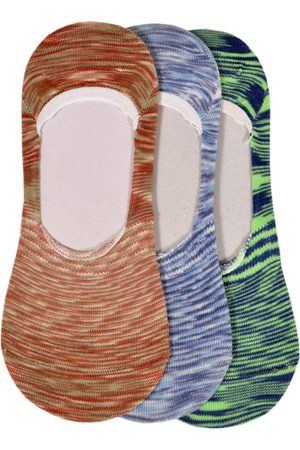 Marc Men Pack of 3 Multicoloured Patterned Shoe Liners