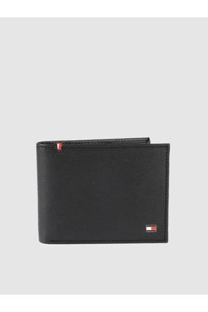 Tommy Hilfiger Men Black Solid Two Fold Wallet