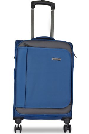 Kenneth Cole Unisex Navy Blue Solid Medium Trolley Bag
