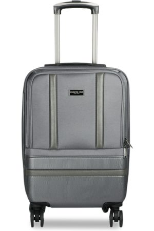 Kenneth Cole Unisex Grey Solid Large Trolley Bag