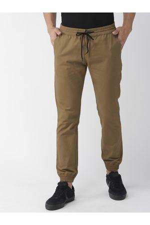 Hubberholme Men Brown Slim Fit Solid Joggers