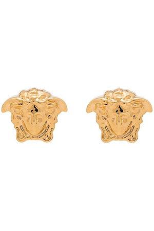 VERSACE Men Earrings - Gold medusa stud earrings