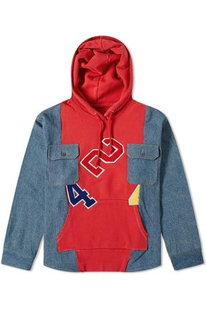 424 FAIRFAX Reworked Denim Hooded Workshirt