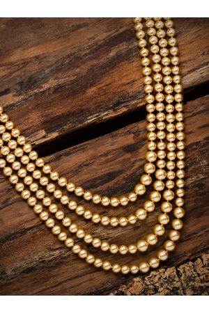 Zaveri Pearls Men Gold-Toned Be Layered Necklace
