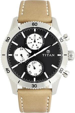 Titan Men Black Analogue Watch 90105KL02