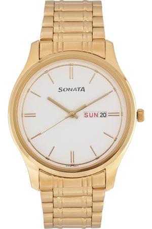 Sonata Essentials Men White Analogue watch NL77082YM03