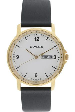 Sonata Essentials Men White Analogue watch 77083YL01