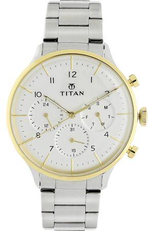 Titan Men White Analogue Watch 90102BM01