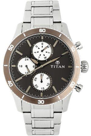 Titan Men Brown Analogue Watch 90105KM01