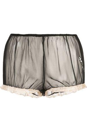 Kiki de Montparnasse X Caroline Vreeland microphone sheer shorts