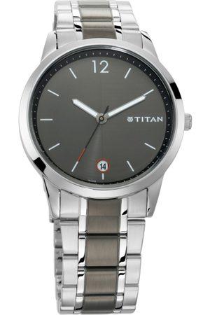 Titan Men Grey Analogue Watch 1806KM01