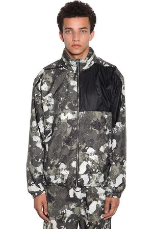 MARCELO BURLON Camo Cross Logo Nylon Windbreaker