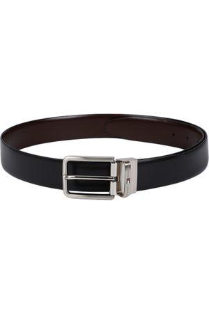 Tommy Hilfiger Men Black & Brown Solid Reversible Leather Belt