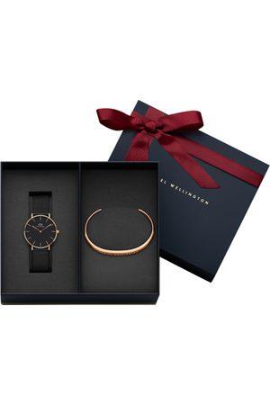 Daniel Wellington Set of 2 Black & Rose Gold-Toned Watch Gift Set