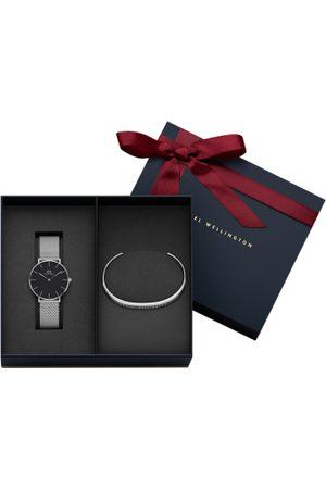 Daniel Wellington Set of 2 Black & Silver-Toned Watch Gift Set