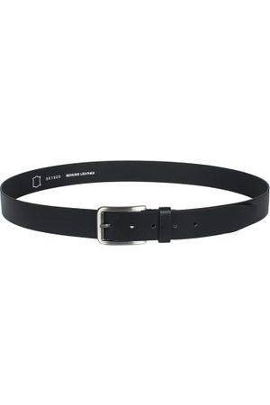 amicraft Men Black Solid Leather Belt