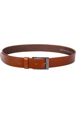 amicraft Men Tan Brown Leather Solid Belt